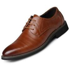 2018 New Men's British Style Pointed Business Casual Retro Oxfords Leather Shoes