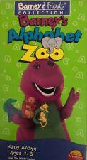SHIP N 24HR-ORIGINAL Barneys Alphabet Zoo(VHS,1994)TESTED-RARE VINTAGE COLLECTIB