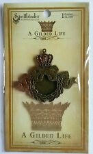 Spellbinders A Gilded Life Bronze Ribbon Wreath with Bezel for Jewelry Making