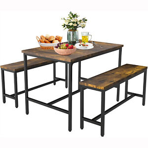 Rustic Industrial Table Chair Bar Table Set Kitchen Dining Table Wood Metal Legs