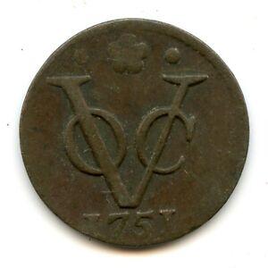 Genuine 1751 Holland Netherlands 1 Duit   VG/F Condition