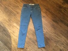 Girls blue denim skinny jeans (age 8-9 years)