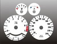 1989-1995 BMW E34 METRIC 5 Series Dash Cluster White Face Gauges KMH KPH