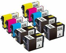 10PK Remanufactured 252XL T252XL ink  For Epson WF7710 WF7720 WF3640 WF3620 7610