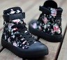 Womens Floral High Toe Sneakers Flat Lace Up Canvas Casual Shoes Girls Hot Sale