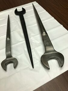 "Vintage BETHLEHEM STEEL Structural Spud Offset Wrench Set - 7/8"", 1"", 1-1/4"""