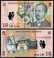 ROMANIA 10 LEI 2008 (2010) P#119.b POLYMER BANKNOTE UNC