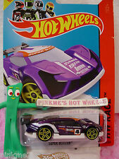 Case B 2014 Hot Wheels SUPER BLITZEN #163 US☆Purple/White; 4☆Track Aces