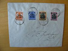 cover Poland Polen 4 different stamps overprint Poznan 1919