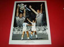 West Ham Utd Legends Brooking Bonds signed photo 1980 FA Cup montage16x12 inches