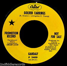 GANDALF-Golden Earrings-Very Rare Psychedelic Acid Rock Promo 45-CAPITOL #P 2400