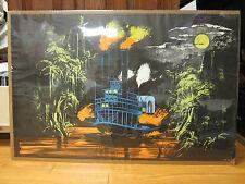 Vintage Steam Boat black light Poster original  1971 264