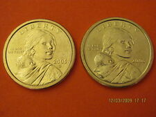 New listing 2006 P&D Bu Mint State (Sacagawea) Us One Dollars (2 Coins)