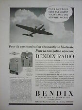 8/1939 PUB BENDIX AVIATION RADIO EMETTEUR  RECEPTEUR AVION AIRCRAFT FLUGZEUG AD
