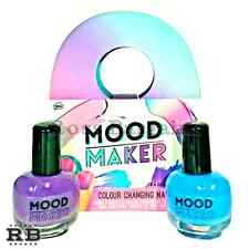 New 2-Pack Mood Maker Temperature Color Changing Nail Polish - Purple & Blue