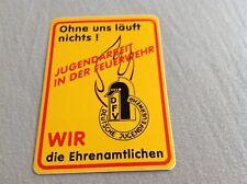 """Aufkleber Deutsche Jugendfeuerwehr """"Ohne uns läuft nichts!"""" JUGENDARBEIT IN DER"""
