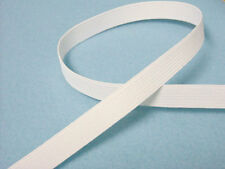 "Braided Elastic 1/2"" Wide x 5 Yards Long - White Band"