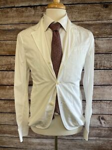 NWT $395 Faconnable Cotton Sportcoat Jacket Size 36 Small White Blazer