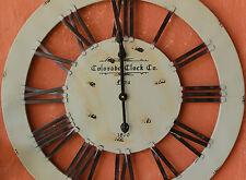 "Large  Rustic ""  Colorado  ""  Wood  / Iron / Metal    Wall Clock     BRAND NEW"