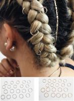 20 Metal Hair Hoops, Braid Rings, Dread Clip Pin, Bohemian Hippie Festival Style