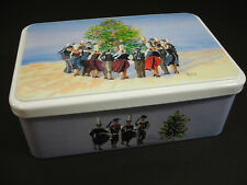 Massilly Tin Hinged Lid Illustration Yves Agaisse France Folk Dancers Christmas