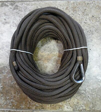"""100 ft x 3/8"""" Earth Brown Double Braid Nylon Anchor Line (Made in USA)"""