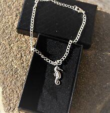 Seahorse Anklet Ankle Bracelet Handmade Silver Plated Ladies/Girls/Boys