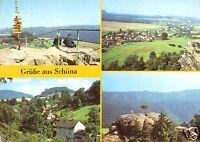AK, Reinhardtsdorf-Schöna Kr. Pirna, OT Schöna, vier Abb., 1988