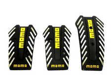 Black Aluminium Non Slip Sport Pedal Brake Pad Covers Manual Car 3 PCS