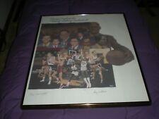 KANSAS JAYHAWKS:History-Making Basketball Signed 211/1459 Lithograph  COA