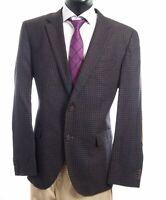 HUGO BOSS Sakko Jacket The Smith5 Gr.54 schwarz kariert Einreiher 2-Knopf -S127