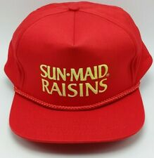 SUN-MAID RAISINS vintage adjustable snapback cap / hat 100% cotton - wide brim