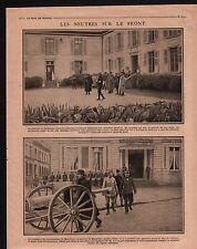 WWI Général de Castelnau & Louis Ernest de Maud'huy France 1915 ILLUSTRATION