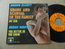 "DISQUE 45T DE SHAWN ELLIOT / DEREK MARTIN  "" SHAME AND SCANDAL IN THE FAMILY """