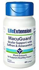 4X $22.75 Life Extension MacuGuard Astaxanthin saffron eye vision formula