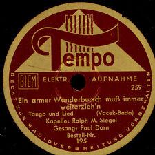 KAPELLE RALPH M. SIEGEL  Ein armer Wanderbursch / ORCH. FERDY KAUFFMAN    S6314