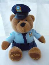 "MONTREAL QUEBEC CANADA 911 Police Bear FLIK mascot PLUSH doll 9 "" RARE"
