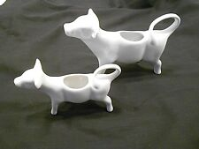 Cow Creamers, White Porcelain, Lot Of 2