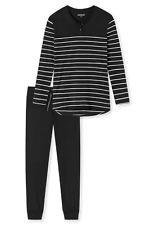 Schiesser Damen Schlafanzug lang Pyjama 161069-000 Gr. 40,42,48 UVP 49,95 €