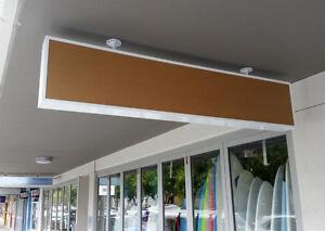 Fascia Light Box, shop signs white 2400x350x150mm, 2row=4lights, LED, 2 acrylics