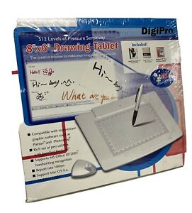 DIGIPRO WP5540 8IN x 6IN USB GRAPHICS DRAWING TABLET & CORDLESS PEN NEW SEALED
