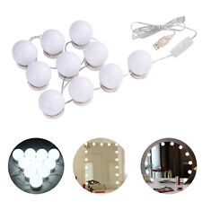 Hollywood Style Vanity Mirror Light Kit for Makeup Dressing Table 10 LED Bulbs