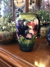 William Moorcroft Pottery Anemone Pattern Vase Impressed Marks W Moorcroft