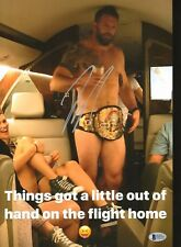 Ryan Bader Signed NUDE 11x14 Photo BAS COA Bellator MMA Belt Picture Autograph