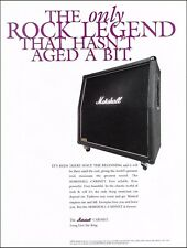 Jim Marshall Cabinet guitar amp 8 x 11 ad 2000 advertisement print