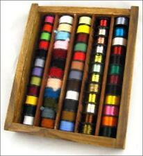 60 FLY abbinamento filettature, usa & TINSELS in scatola in legno