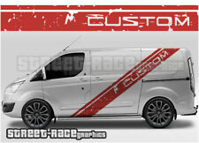 Ford Transit CUSTOM 024 racing stripes graphics stickers decals shredded rally