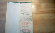 1898 Antique Vellum Indenture Mortgage - Stanley rd -Harrow on the Hill.