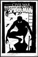 AMAZING SPIDER-MAN #530 'ALTERNATE' CIVIL WAR COVER (2006) Original Comic Art