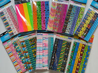 Your Choice of Wide Variety of Pencils 12 pk~ Animals Floral Holographic Glitter
